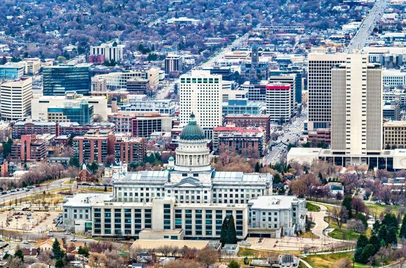 Edificio delle Capitoli di Stato dello Utah a Salt Lake City fotografia stock
