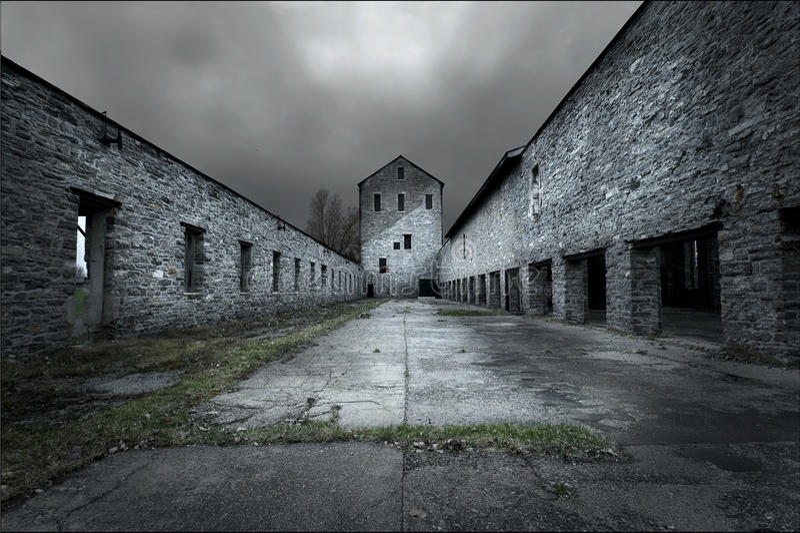 Edificio di Abandonded immagini stock