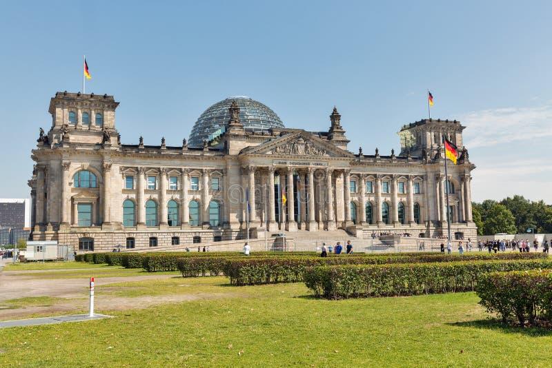Edificio di Bundestag o di Reichstag a Berlino, Germania fotografia stock