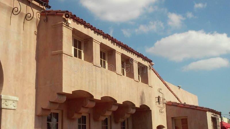 Edificio di California Clay Spanish fotografia stock