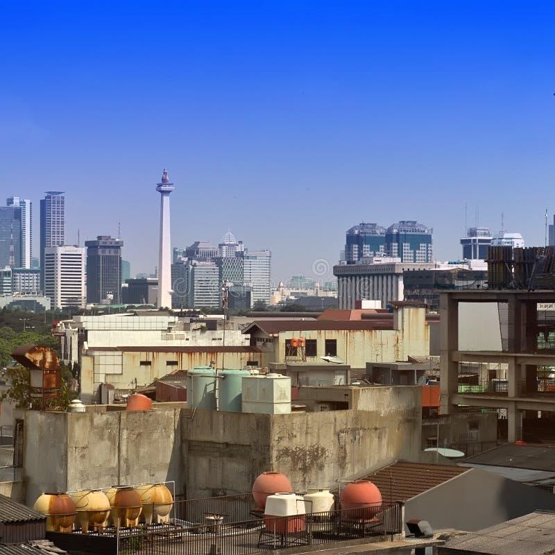 Edificio di Crowde Jakarta fotografie stock libere da diritti