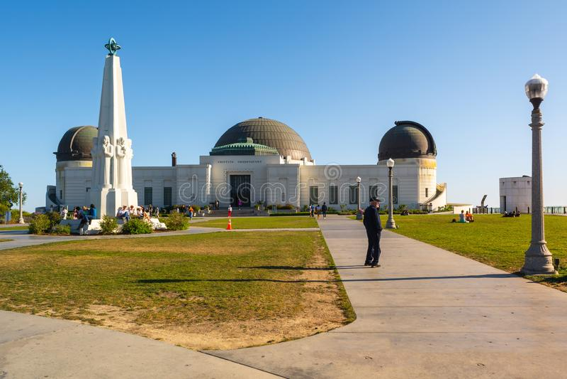Edificio di Griffith Observatory fotografie stock libere da diritti