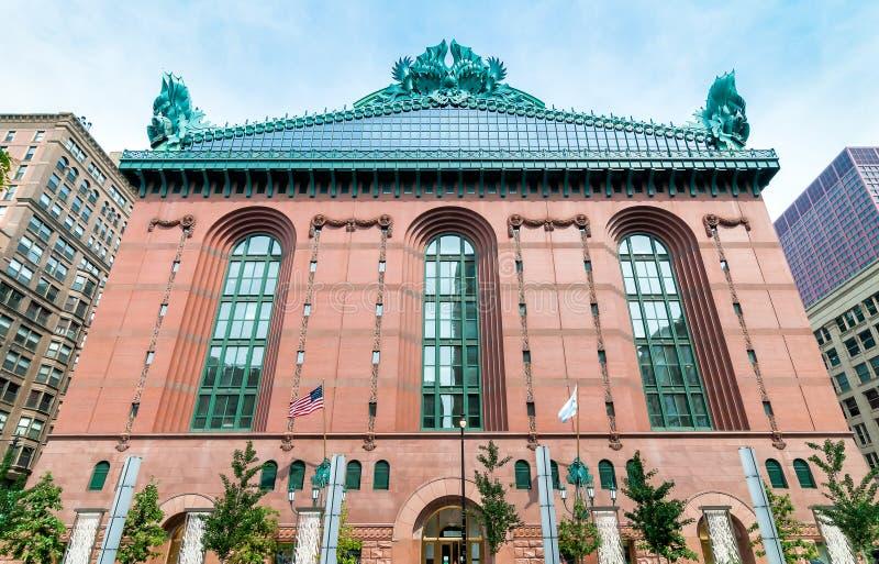Edificio di Harold Washington Library Center in Chicago del centro fotografie stock