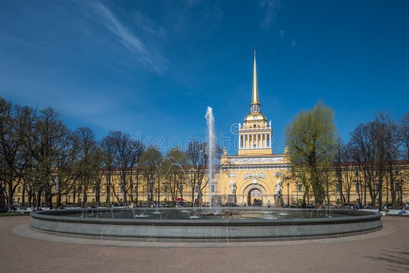 Edificio di Ministero della marina, San Pietroburgo, Russia immagini stock libere da diritti
