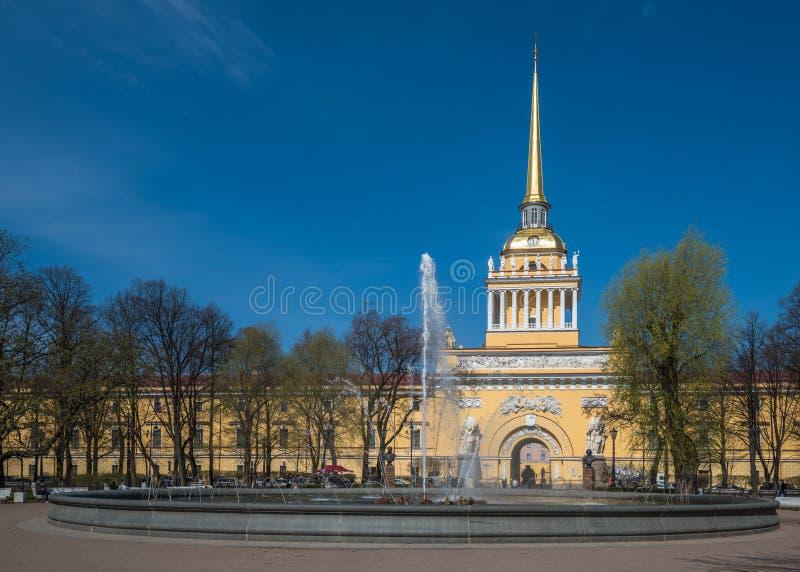 Edificio di Ministero della marina, San Pietroburgo, Russia fotografia stock