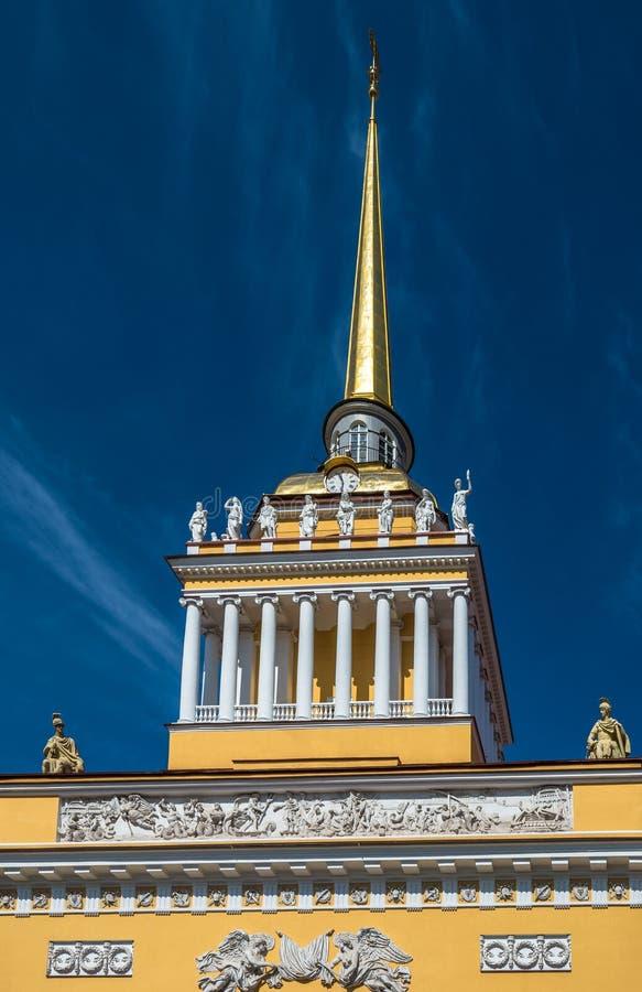 Edificio di Ministero della marina, San Pietroburgo, Russia fotografie stock libere da diritti