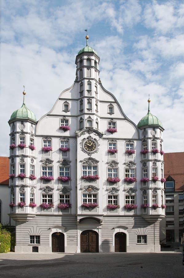 Edificio di Parlement nel memmingen immagine stock