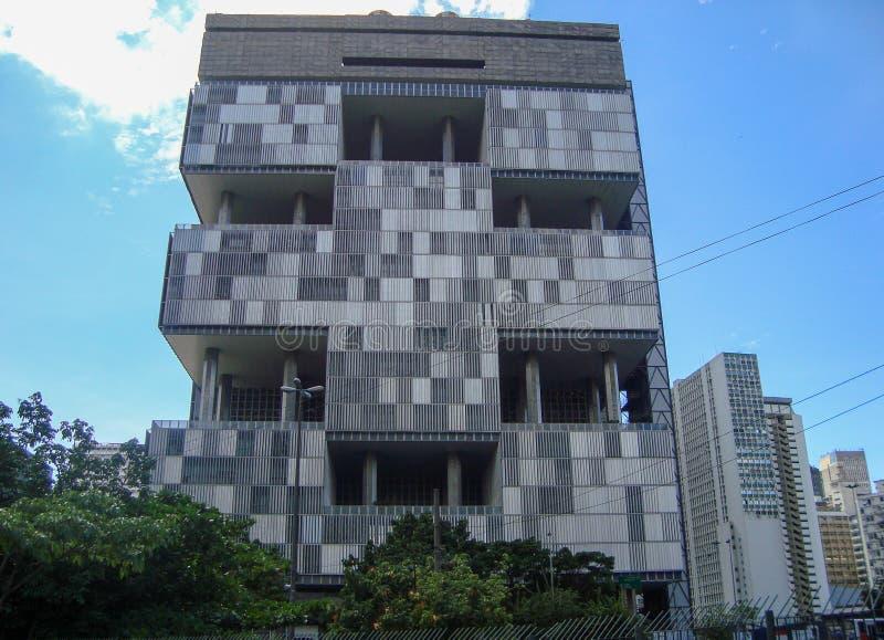 Edificio di Petrobras a Rio de Janeiro, Brasile fotografia stock libera da diritti