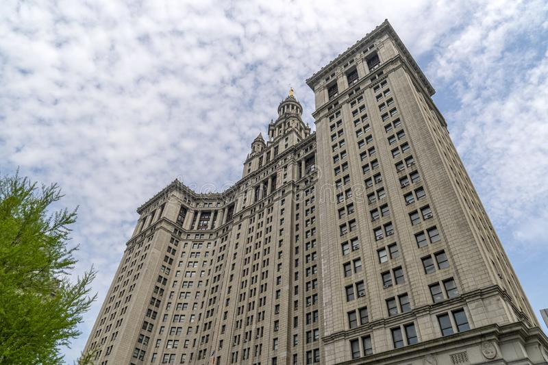 Edificio di presidente di città di Manhattan Office a New York immagini stock
