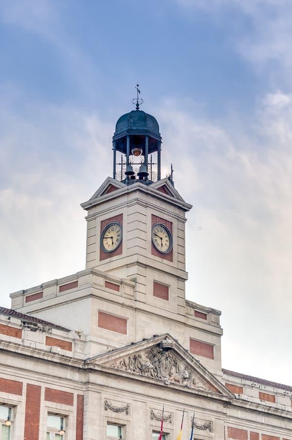 Edificio di Real Casa de Correos a Madrid, Spagna. fotografia stock