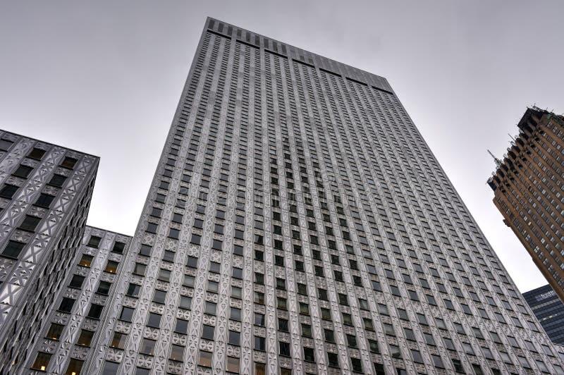 Edificio di Socony-Mobil Oil Company, New York immagini stock