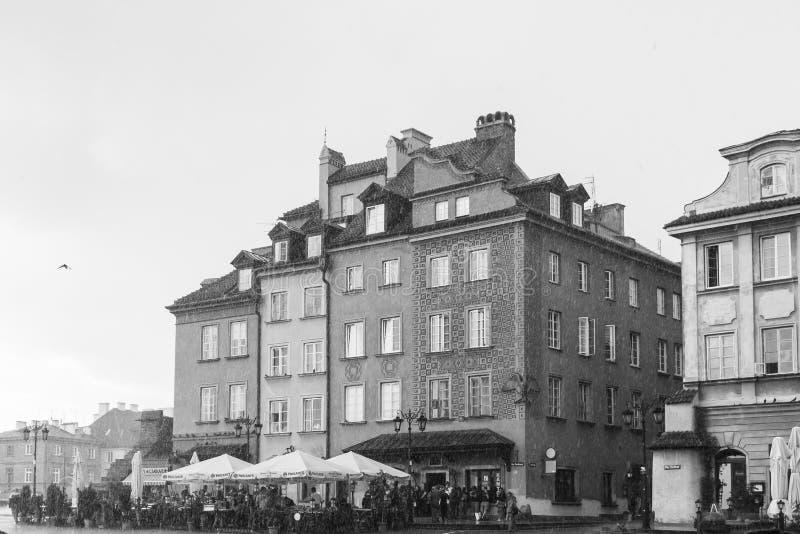 Edificio di Varsavia fotografia stock