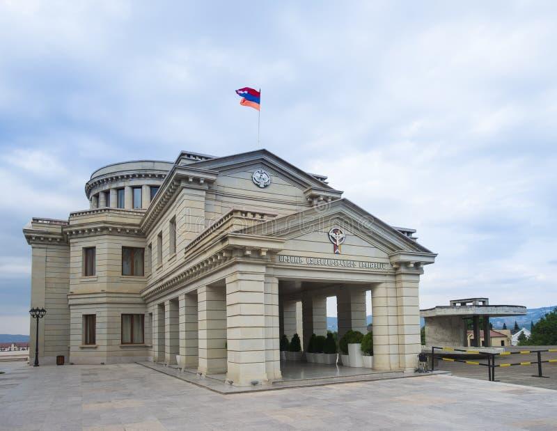 Edificio di Volenteers dell'Unione armena a Stepanakert, artsakh, armenia fotografie stock