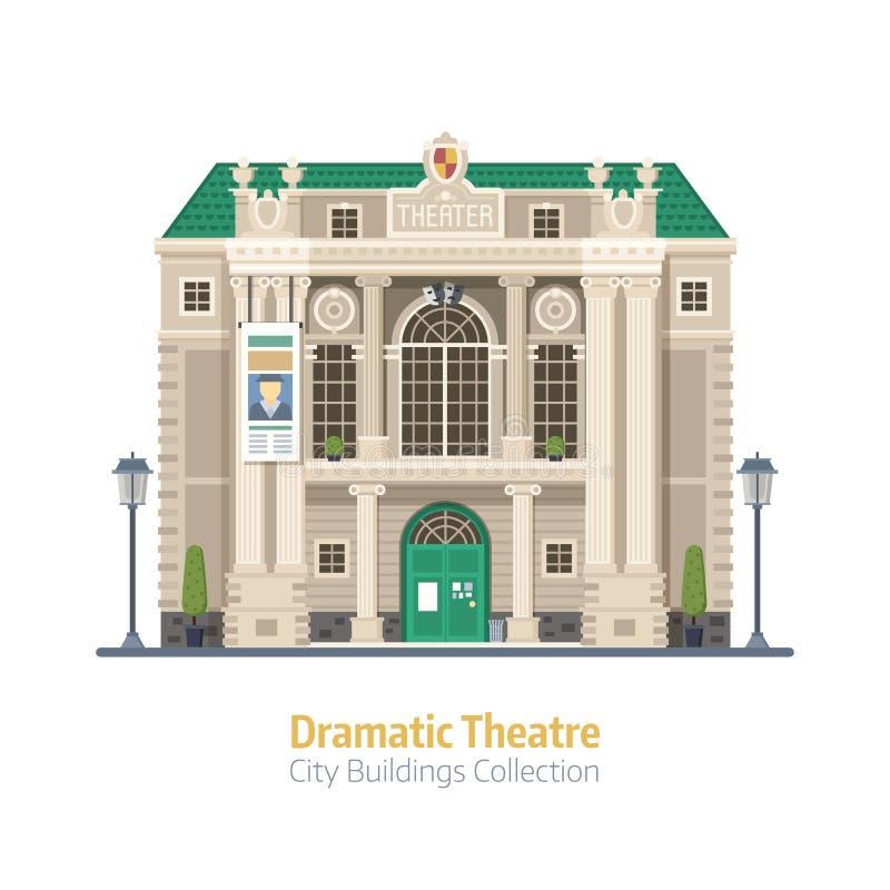 Edificio dramático del teatro ilustración del vector