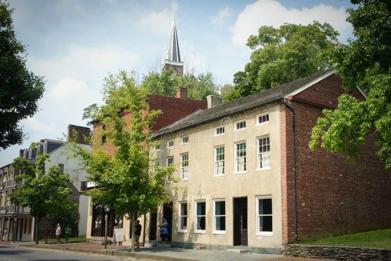 Edificio en la calle de Shenandoah del transbordador de los Harpers fotografía de archivo libre de regalías