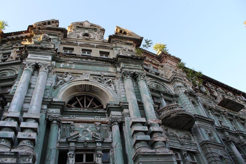 Edificio en la ciudad de Odessa con arquitectura hermosa fotografía de archivo