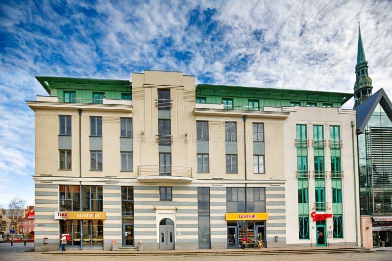 Edificio en la plaza principal en Riga fotos de archivo libres de regalías