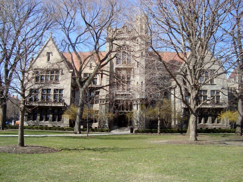 Edificio en la Universidad de Chicago imagen de archivo libre de regalías