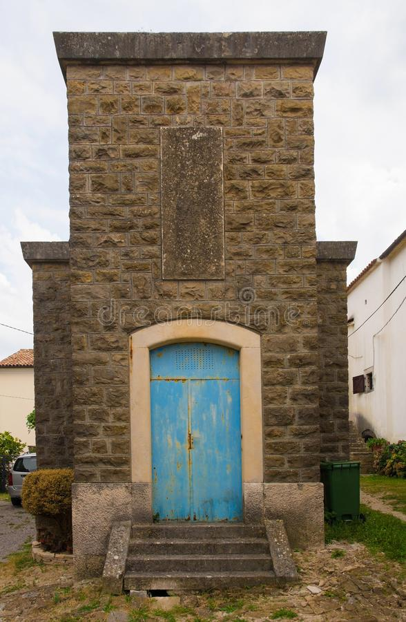 Edificio en Oprtalj fotos de archivo libres de regalías