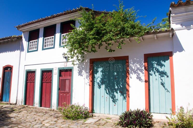 Edificio en Paraty, Rio de Janeiro imagenes de archivo