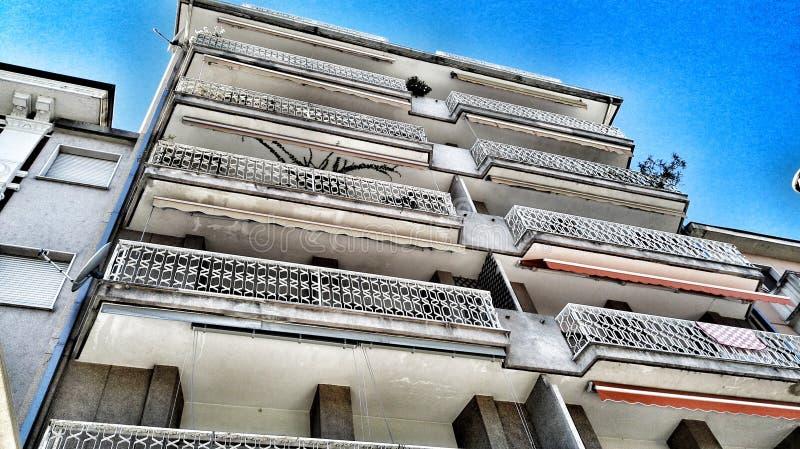 Edificio en perspectiva fotografía de archivo
