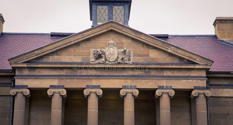 Edificio en St Johns Terranova foto de archivo libre de regalías