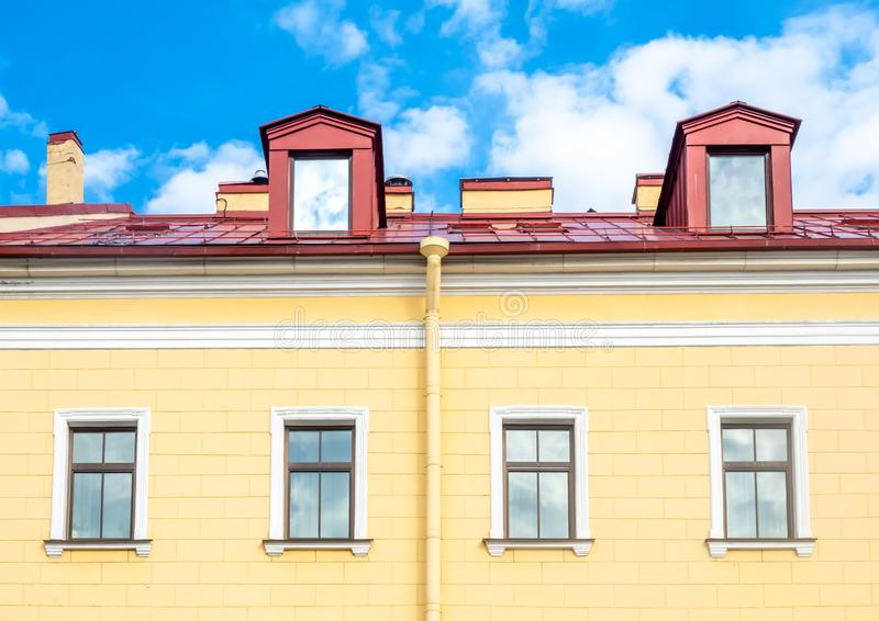 Edificio en St Petersburg, Rusia fotos de archivo libres de regalías