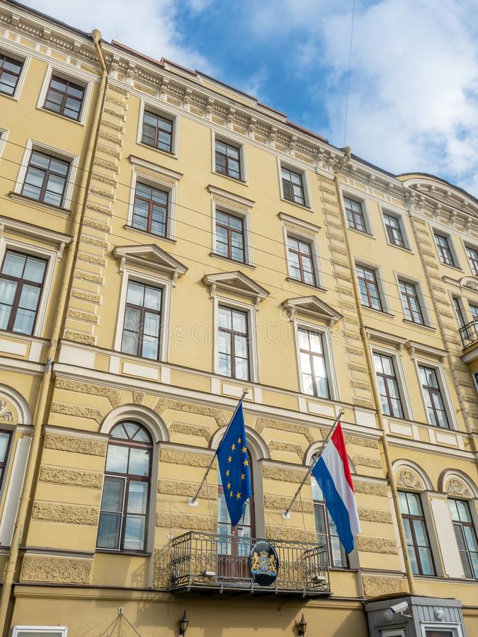 Edificio en St Petersburg, Rusia foto de archivo libre de regalías