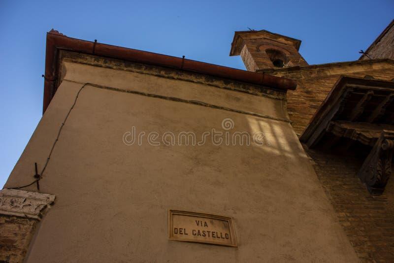 Edificio en Toscana fotografía de archivo libre de regalías