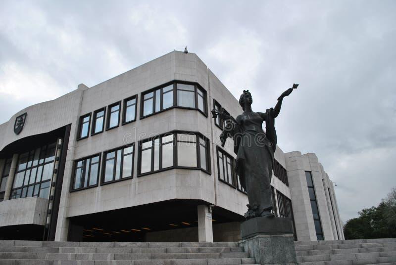 Edificio eslovaco del parlamento fotos de archivo