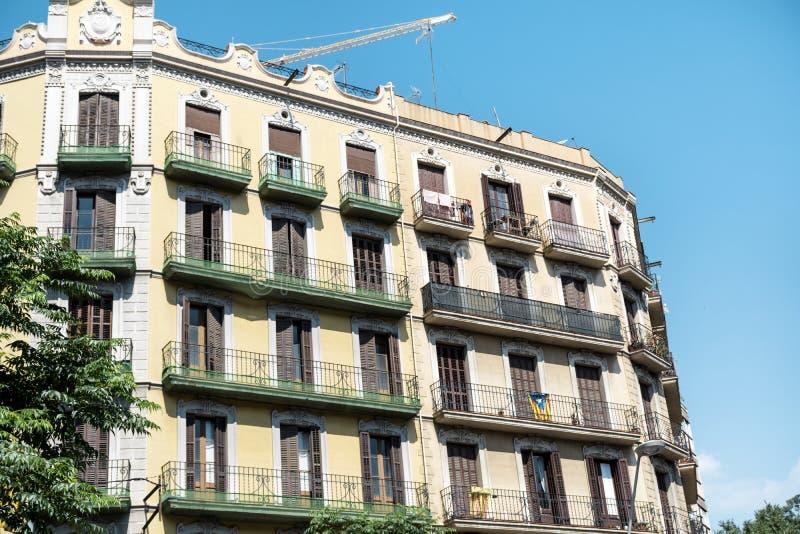 Edificio español hermoso del vintage en Barcelona, española fotos de archivo libres de regalías