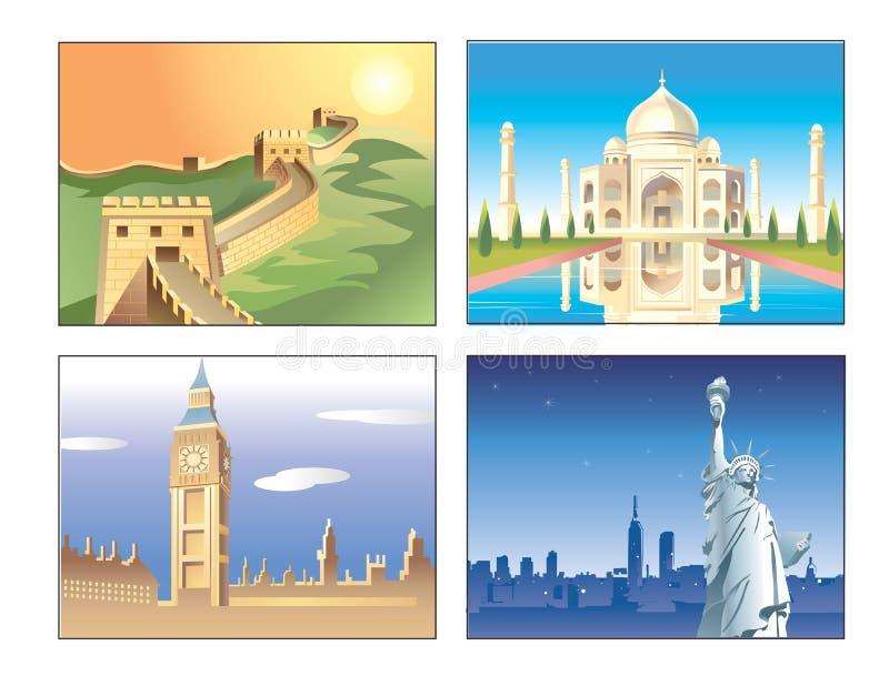 Edificio famoso del mundo ilustración del vector