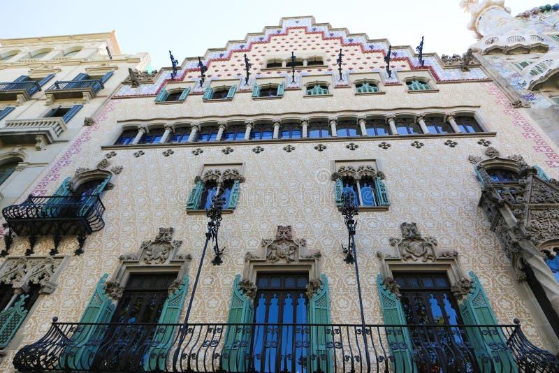Edificio famoso di Battlo della casa a Barcellona fotografie stock libere da diritti