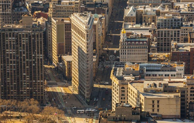 Edificio Flatiron NYC Nueva York Manhattan imágenes de archivo libres de regalías