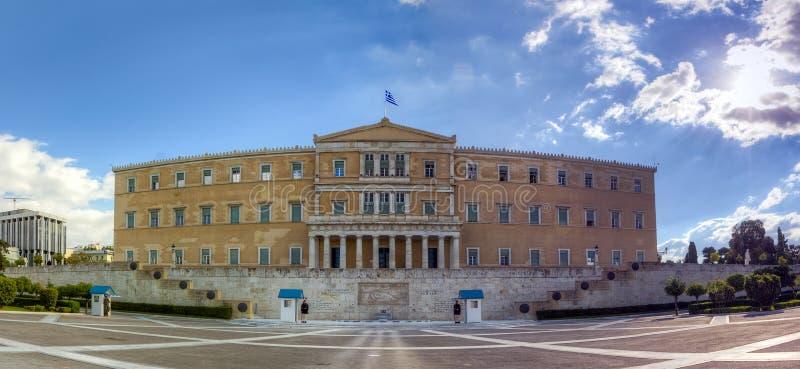 Edificio griego del parlamento, Atenas imágenes de archivo libres de regalías