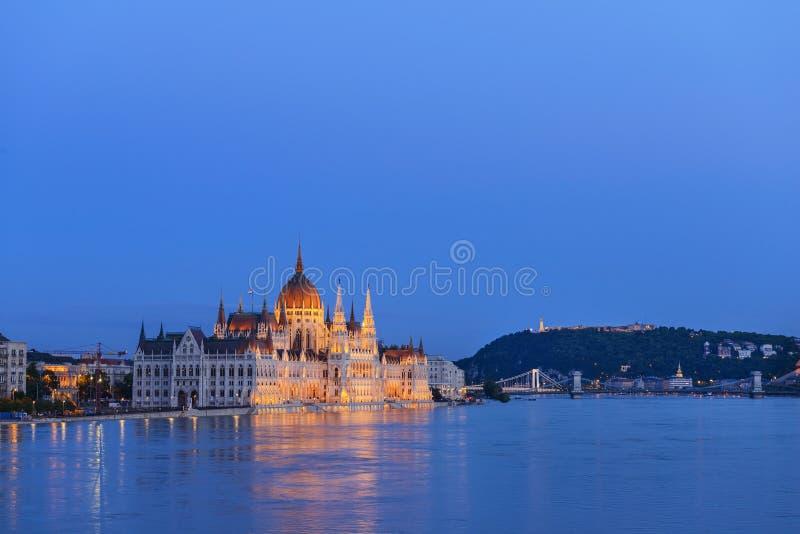 Edificio húngaro del parlamento. Budapest. Hungria fotografía de archivo libre de regalías