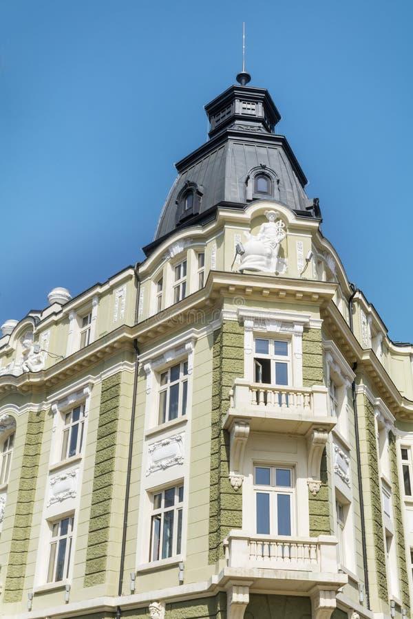 Edificio hermoso del vintage en Sofía, Bulgaria imagenes de archivo