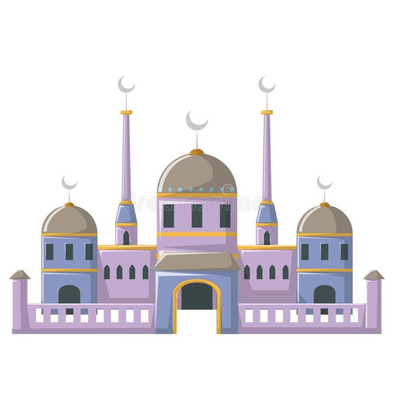 Edificio hermoso v3 05 de la mezquita ilustración del vector