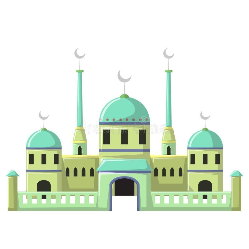 Edificio hermoso v3 06 de la mezquita stock de ilustración