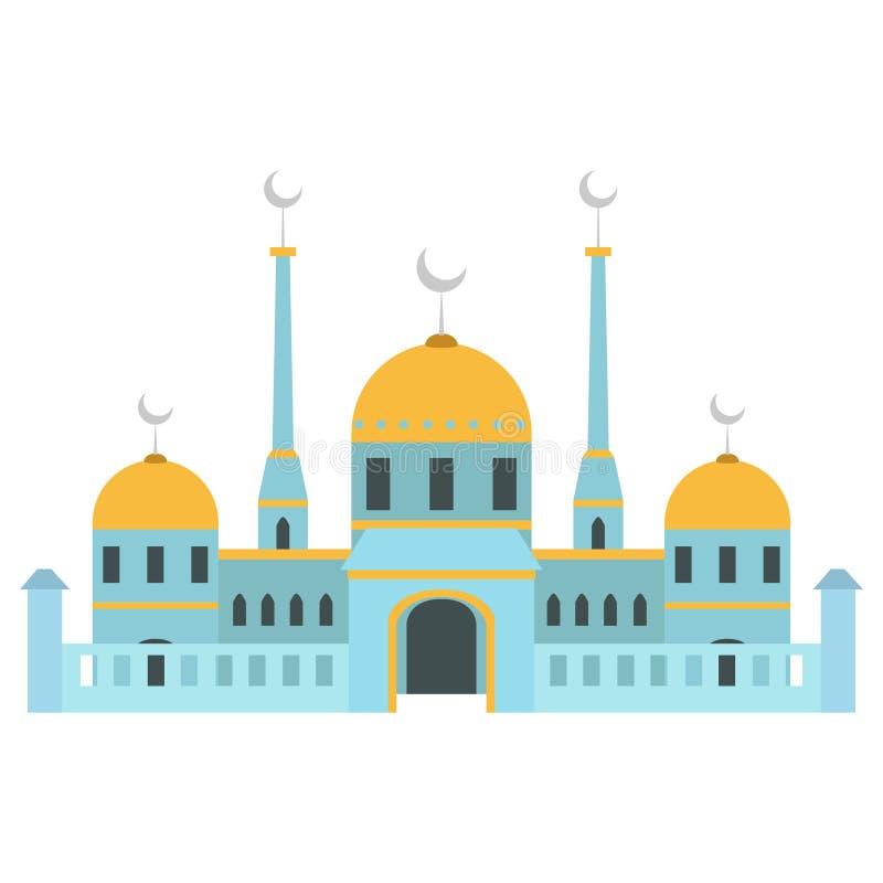 Edificio hermoso v3 02 de la mezquita ilustración del vector