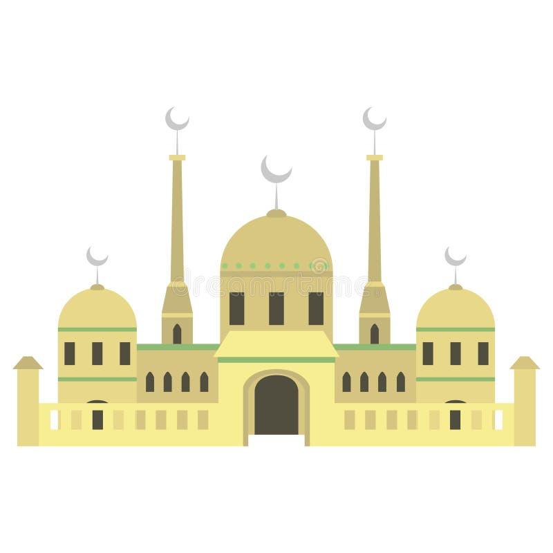 Edificio hermoso v3 01 de la mezquita stock de ilustración