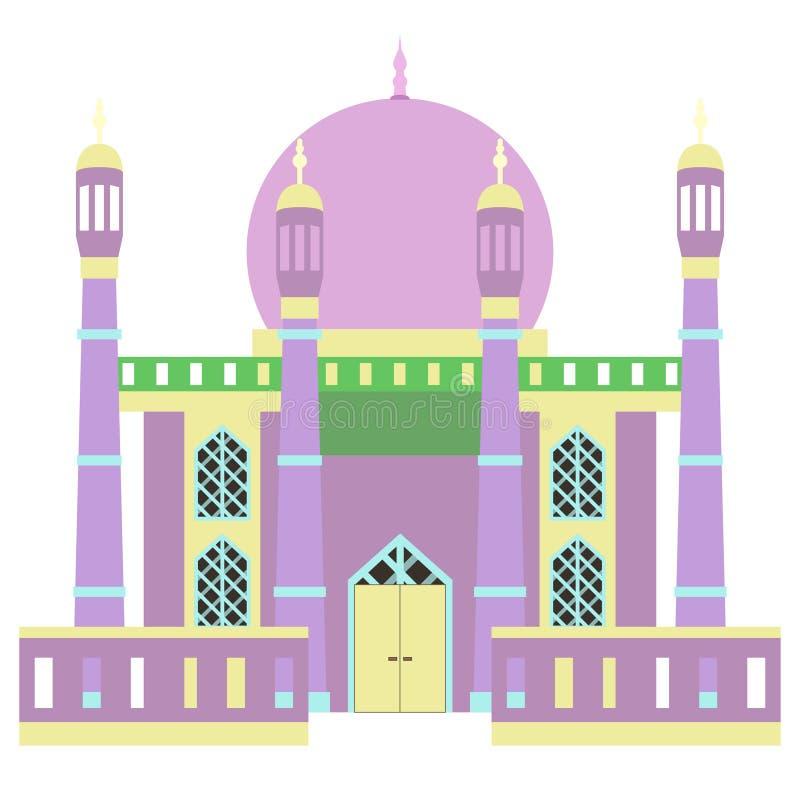 Edificio hermoso v4 03 de la mezquita stock de ilustración