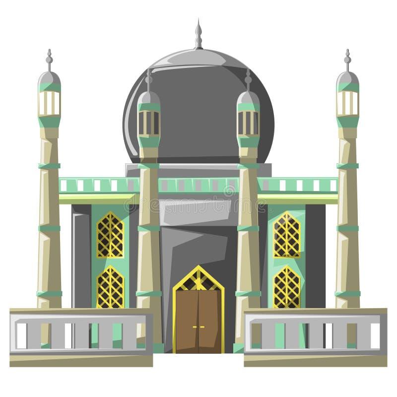 Edificio hermoso v4 06 de la mezquita ilustración del vector
