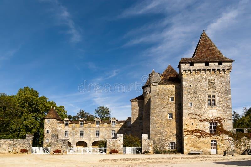 Saint Jean de Cole, Chateau de La Marthonie fotos de archivo libres de regalías