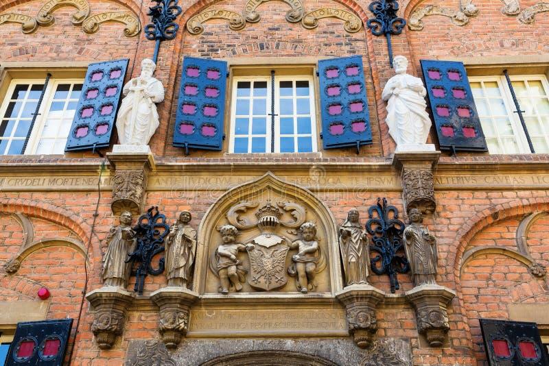 Edificio histórico de la escuela latina en Nimega, Países Bajos fotos de archivo