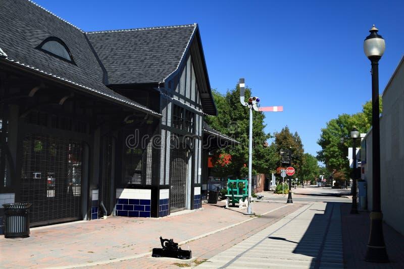 Edificio histórico de la estación de ferrocarril de Ferguson. foto de archivo