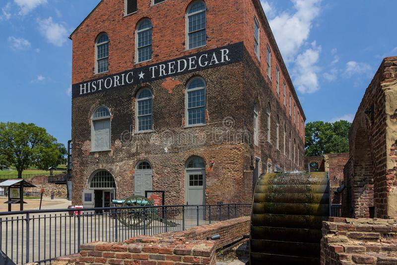 Edificio histórico de Tredegar, museo americano de la guerra civil en Richmon fotografía de archivo