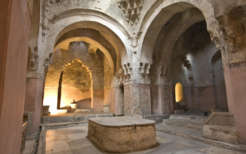 Edificio histórico del baño del hamam del bey en Grecia imágenes de archivo libres de regalías