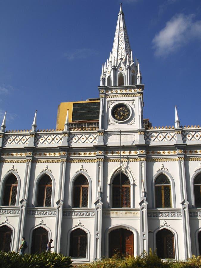 Edificio histórico del palacio académico Caracas céntrica Venezuela imagen de archivo libre de regalías
