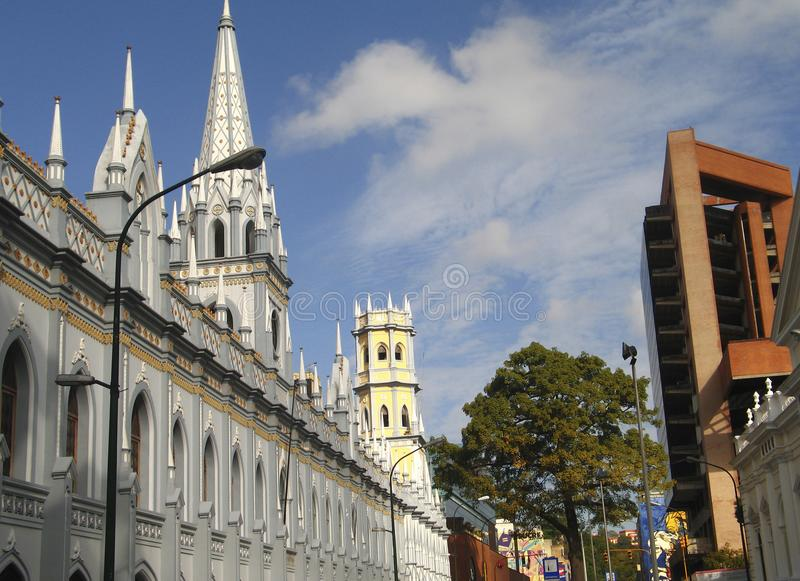 Edificio histórico del palacio académico Caracas céntrica Venezuela foto de archivo